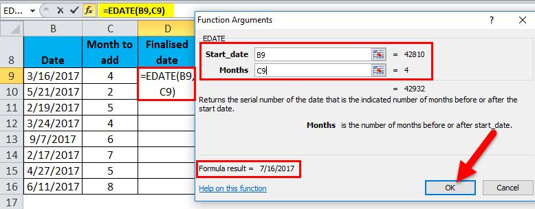 EDATE Example 1-6