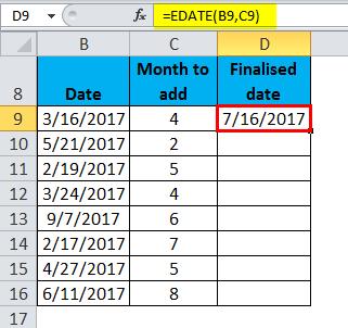 EDATE Example 1-7