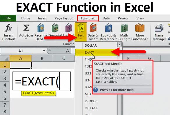 EXACT Function in Excel