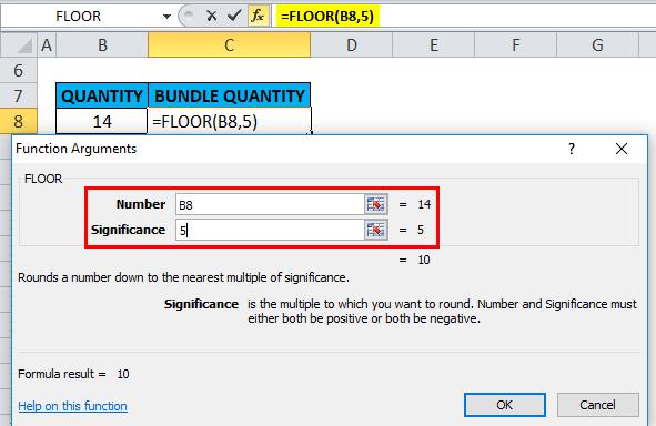 FLOOR in Excel (Formula, Examples