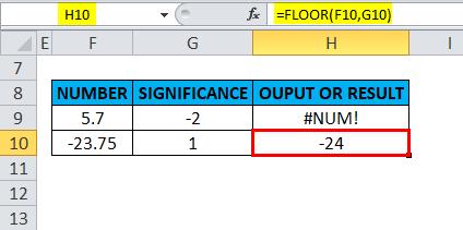 FLOOR Example 4-7
