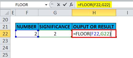 FLOOR Example 5-1