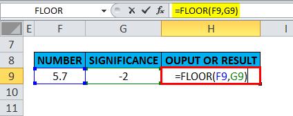 FLOOR Example 5-7