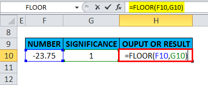 FLOOR Example 5-9
