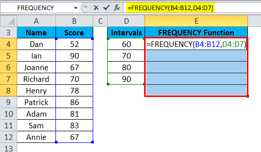 FREQUENCY Example 1-4