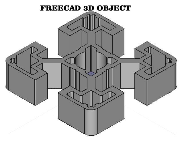 Feeecad 3d object