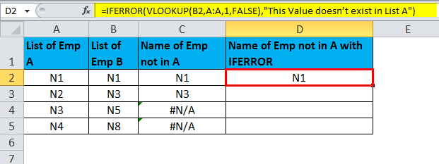 IFERROR Example 1-7