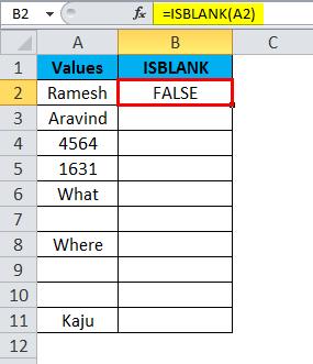 ISBLANK Example 1-3