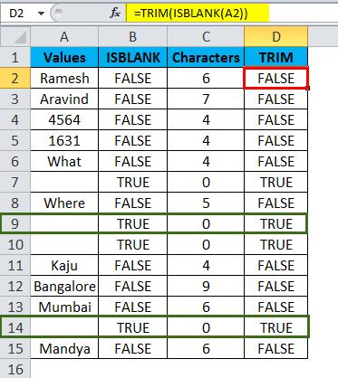 ISBLANK Example 2-12
