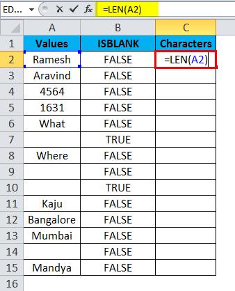 ISBLANK Example 2-5