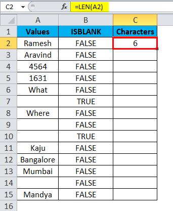 ISBLANK Example 2-6