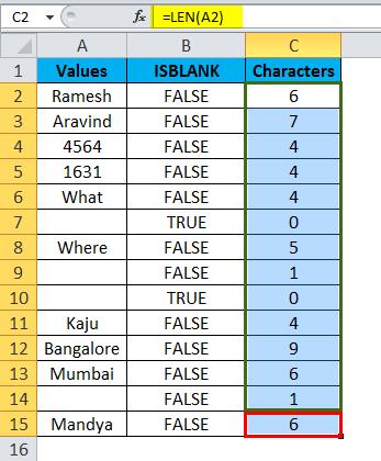 ISBLANK Example 2-7