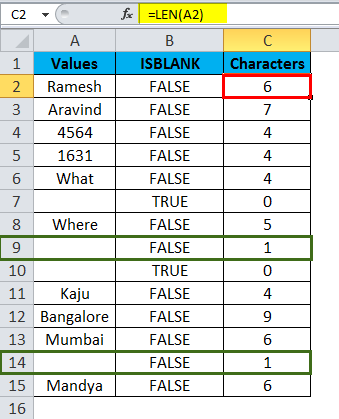 ISBLANK Example 2-8