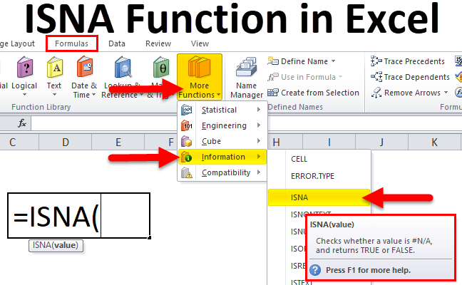 ISNA Function in Excel
