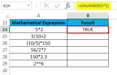 ISNUMBER Example 2.3