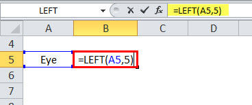 LEFT Function Example 2-1