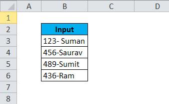 LEFT Example 4-1