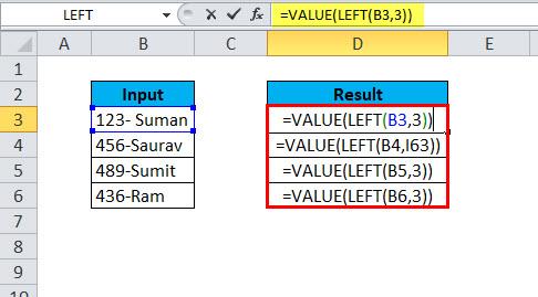 LEFT Example 4-2