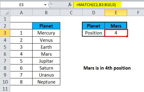 MATCH Exact match 1-1