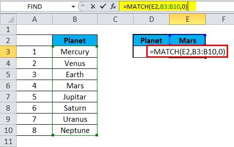 MATCH Exact match 1