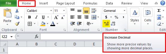 MIRR Example increase decimal