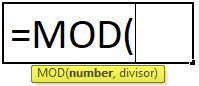 MOD Formula in Excel