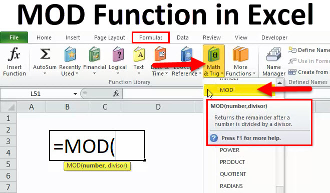 MOD in Excel