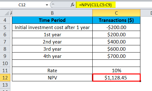 NPV Example 1-3