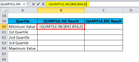 QUARTILE Example 3-4