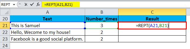 REPT Example 2-1