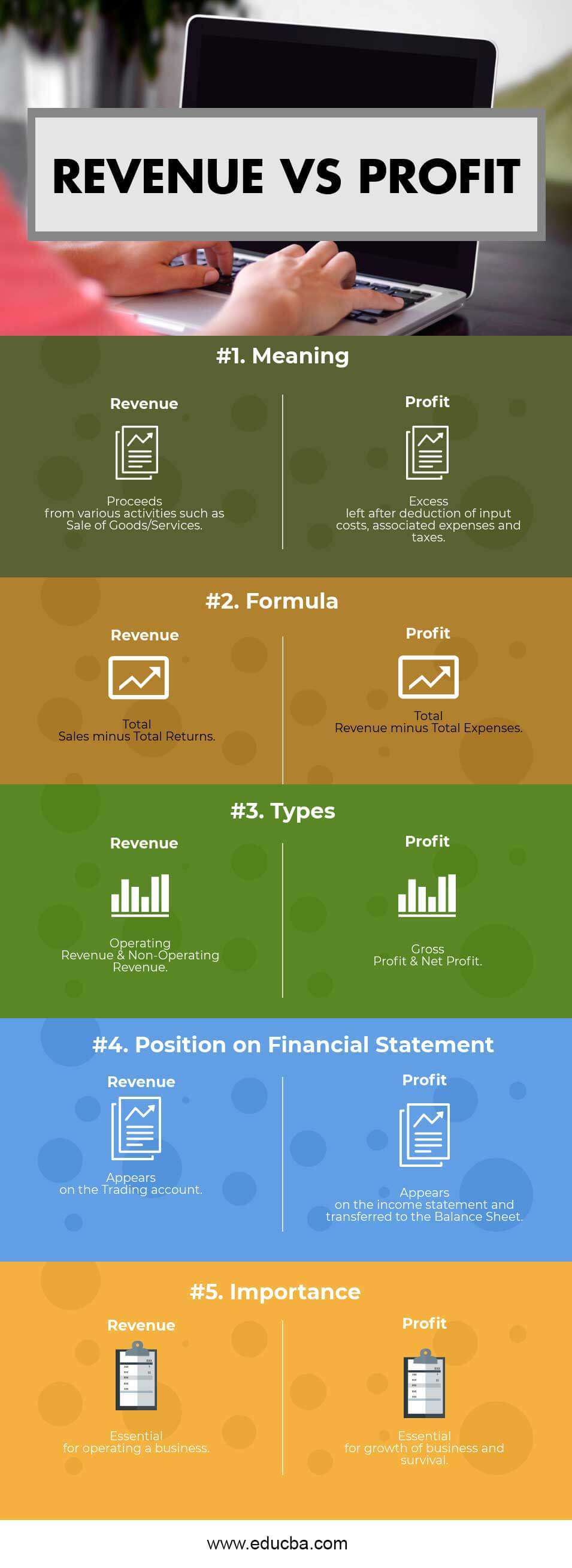 Revenue vs Profit Infographics