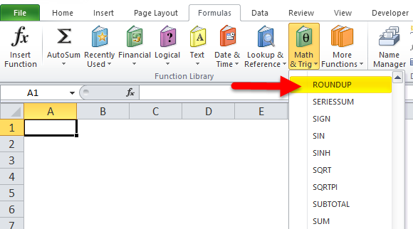 roundup in excel  formula  examples