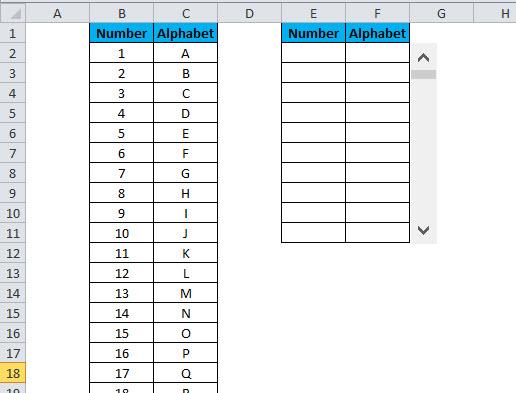 SCROLLBAR Example 1-13