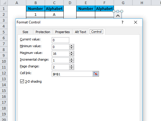 Scrollbar in Excel | How to Insert Scrollbar in Excel and