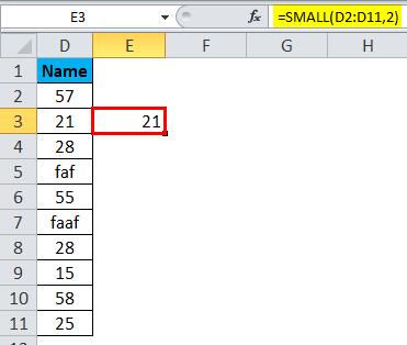 SMALL Function Error 1-2