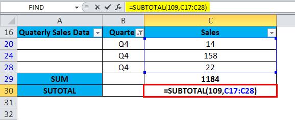 SUBTOTAL Example 1-4