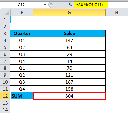SUBTOTAL Function for manually Hidden Rows