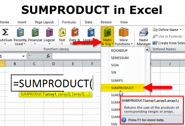 SUMPRODUCT Function in Excel