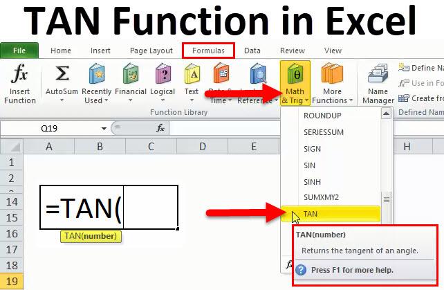 TAN in Excel