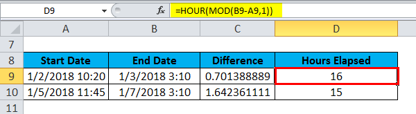 TIME Example Hour mod 1