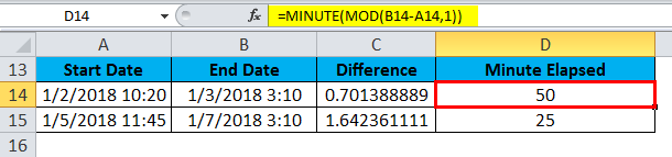 TIME Example Minute mod 1