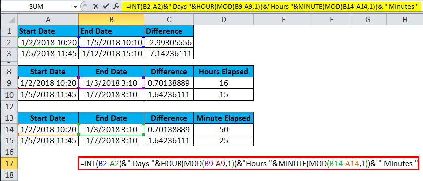 TIME Example Elapsed Time in HMS