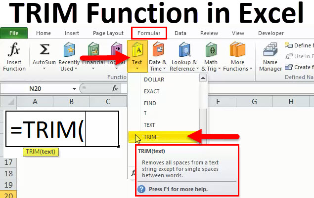 TRIM in Excel