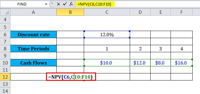 Using NPV Formula 1
