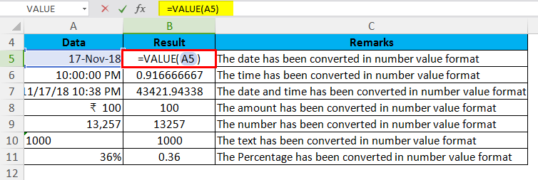 VALUE Example 1.1