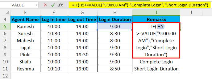 Short Login Duration