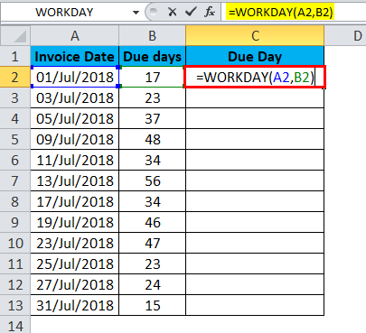 WORKDAY Example 4-2