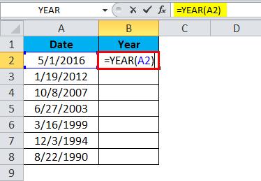 YEAR formula