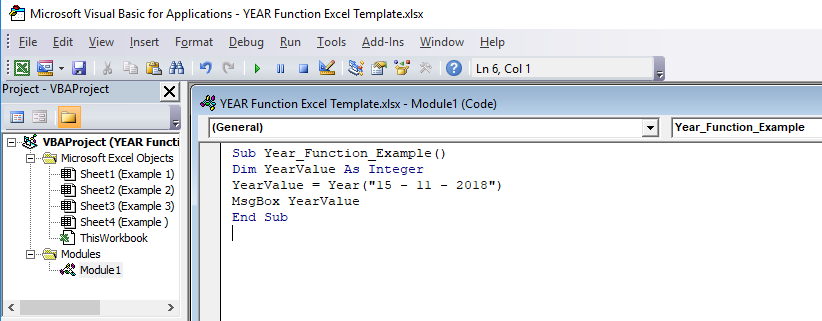YEAR in Excel (Formula, Examples) | How to use YEAR Function?