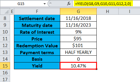YIELD Function in Excel (Formula, Examples) | How to use YIELD?